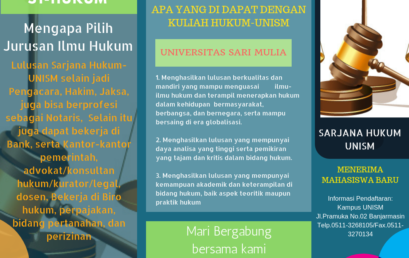 Mau Kuliah di Jurusan Hukum UNISM, Daftar Sekarang…