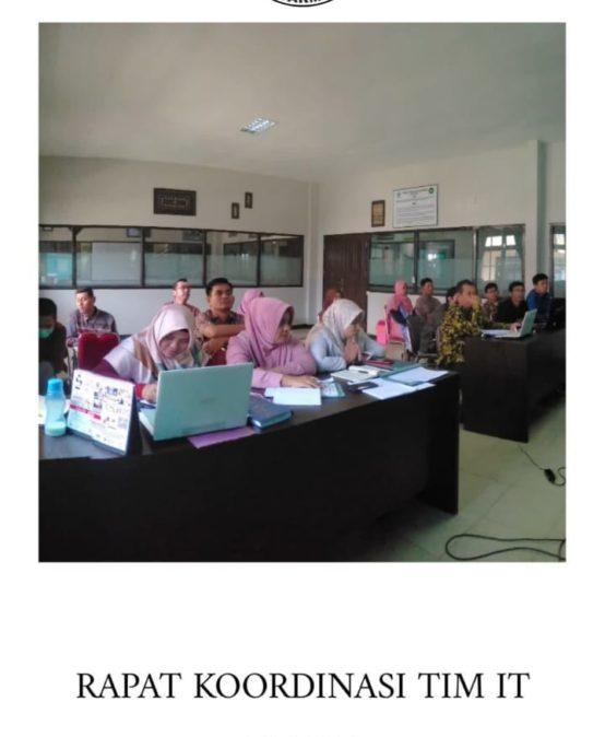 Rapat Koordinasi Tim IT  dengan Wakil Rektor I dan II UNISM