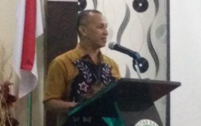 Wakil Rektor III UNISM Berikan Sambutan Kepada Mahasiswa Doctoral