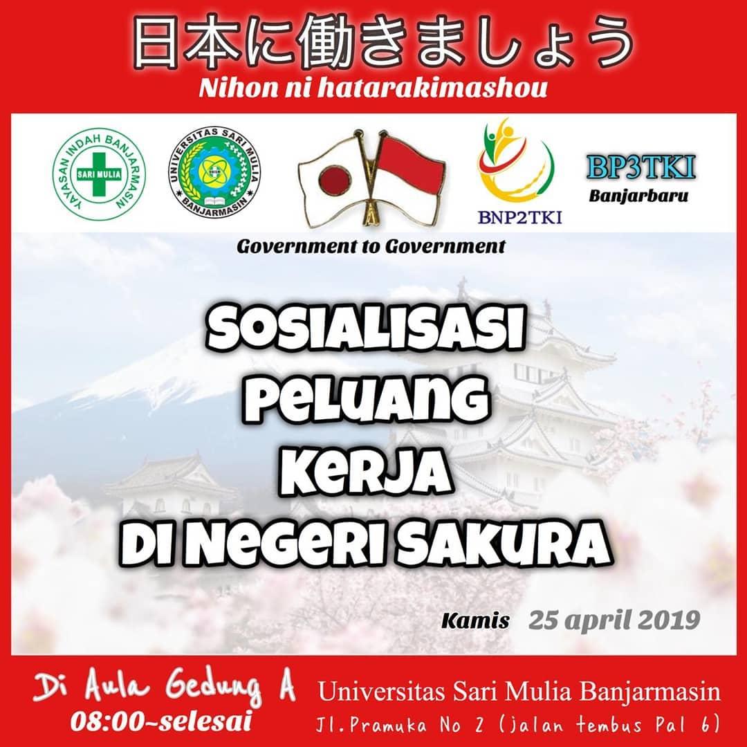 Sosialisasi peluang kerja di negeri Sakura
