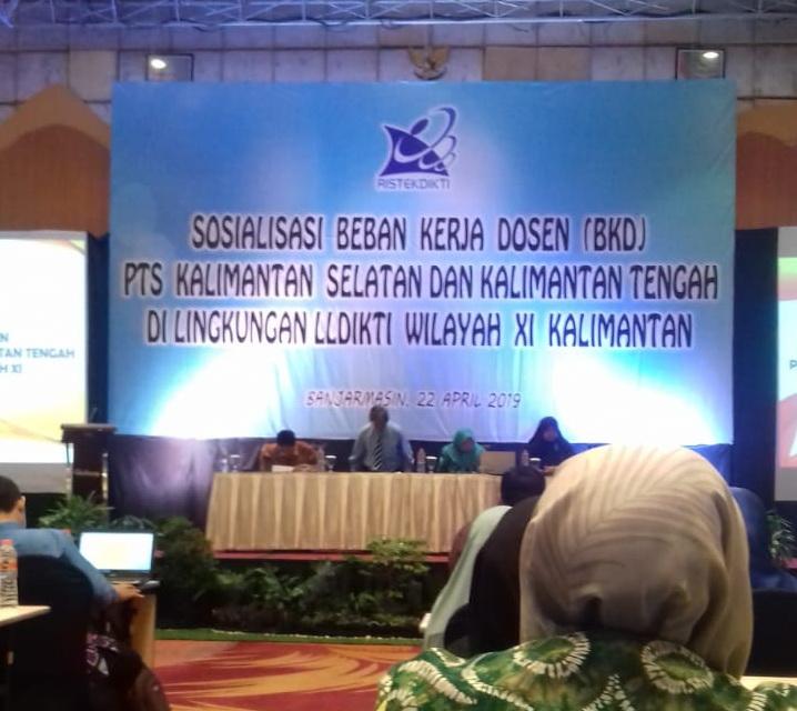 Dosen UNISM Ikuti Sosialisasi Beban Kerja Dosen (BKD) PTS Wilayah Kalimantan Selatan