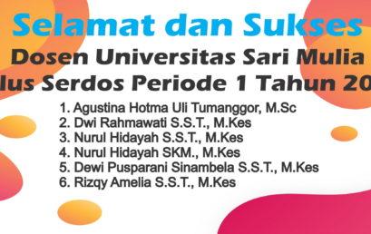 6 Dosen UNISM Raih Serdos Periode I 2019