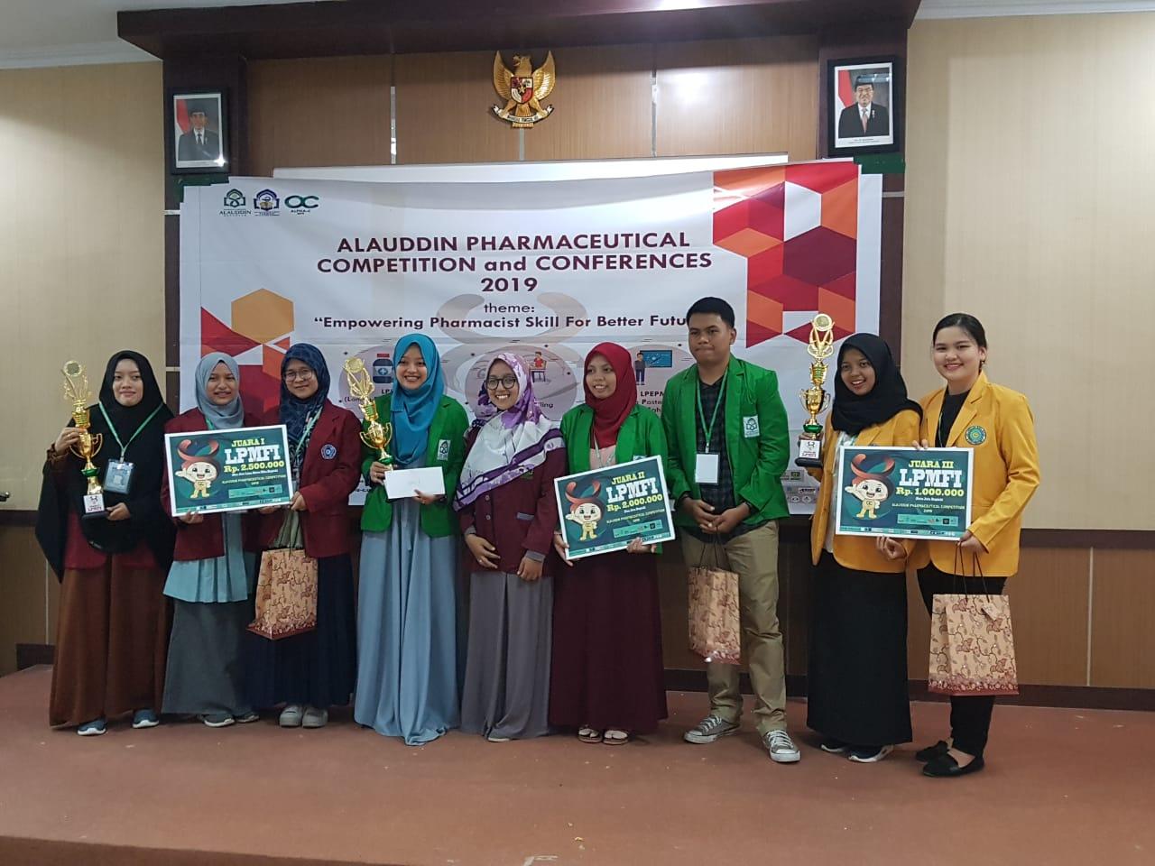 Mahasiswa Farmasi Raih Juara III Alauddin's Pharmaceutical Competition & Confrerences 2019