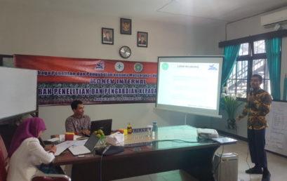 Monev Internal Pendanaan Hibah Menristekdikti Tahun 2019