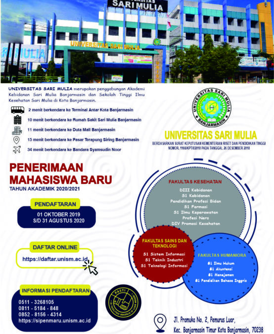 Universitas Sari Mulia Terima Mahasiswa Baru