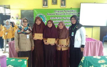 Pengabdian Kepada Masyarakat, Edukasi Farmasi Cilik (Apoteker Sekolah Cilik) di Sekolah Adiwiyata SMPN 19 Banjarmasin