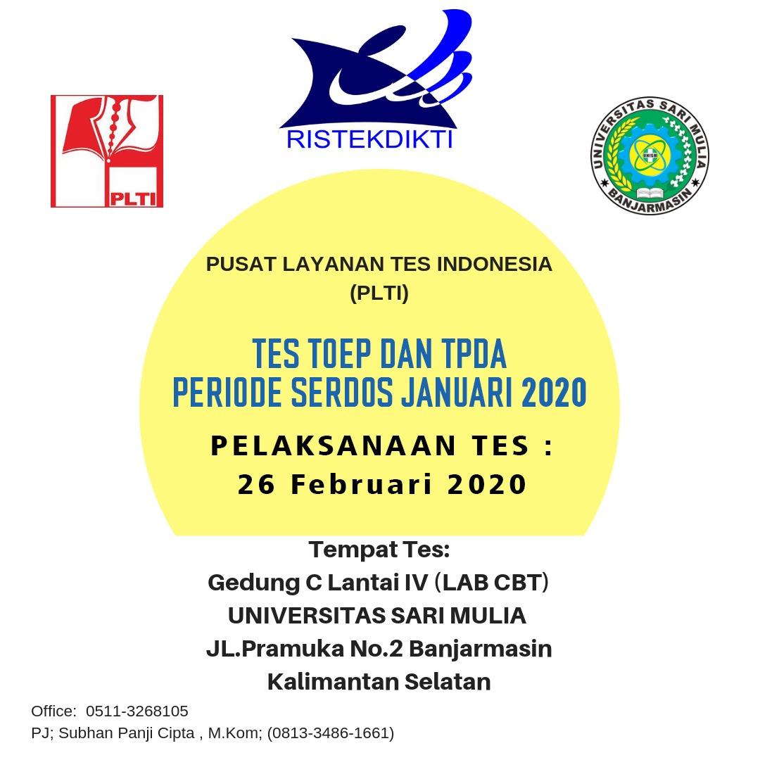 Tes TOEP dan TPDA Serdos 2020 di UNISM