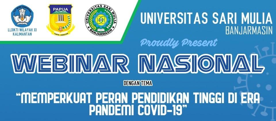 Webinar Nasional UNISM –  LLDIKTI Wilayah XI Kalimantan – DPPAD Provinsi Papua