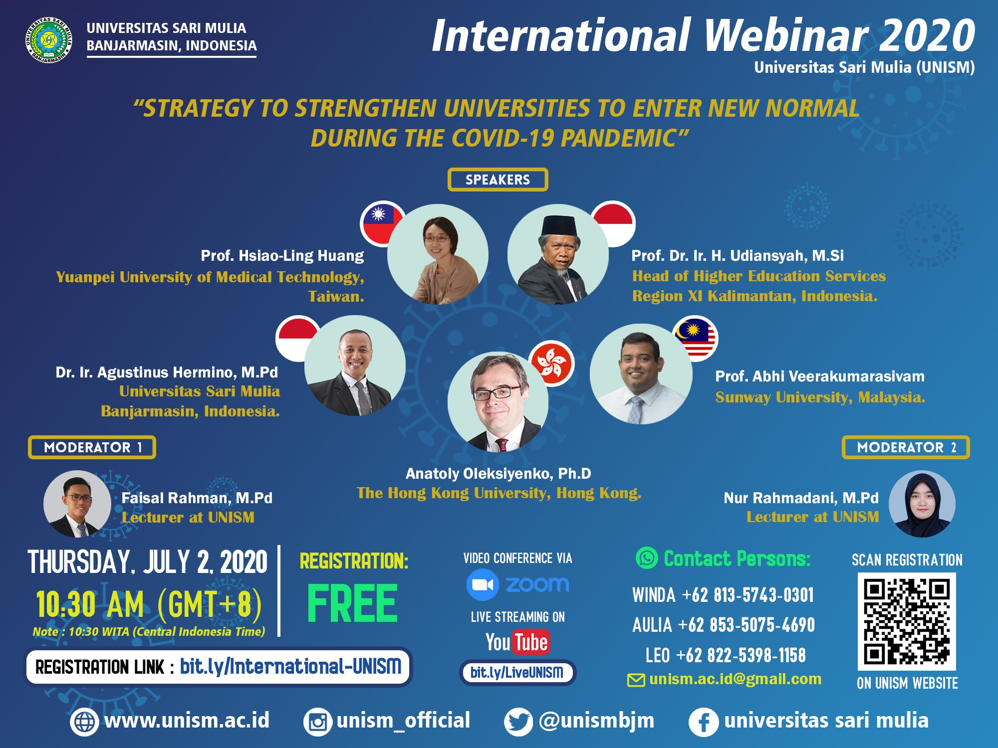 "Webinar Internasional ""Strategy to Strengthen Universities to Enter New Normal During The Covid-19 Pandemic"""
