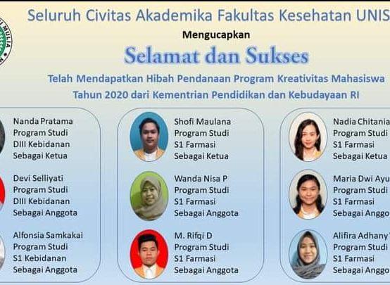 Pengumuman Program Kreativitas Mahasiswa (PKM) Tahun 2020
