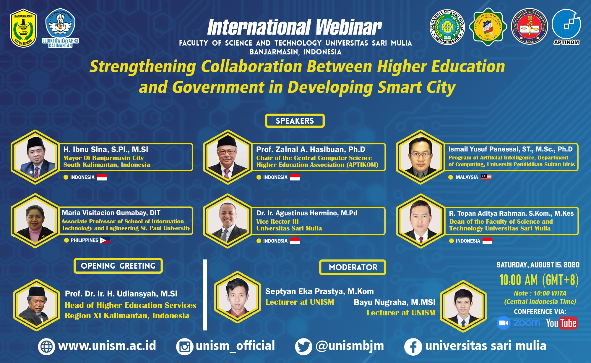 """Materials """"INTERNATIONAL WEBINAR 2020 """"STRENGTHENING COLLABORATION BETWEEN HIGHER EDUCATION AND GOVERNMENT IN DEVELOPING SMART CITY"""""""