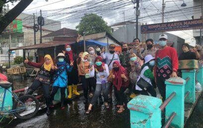 Tangap bencana: Tim Relawan BEM dan Ormawa bekerjasama dengan Dinkes Kota Banjarmasin