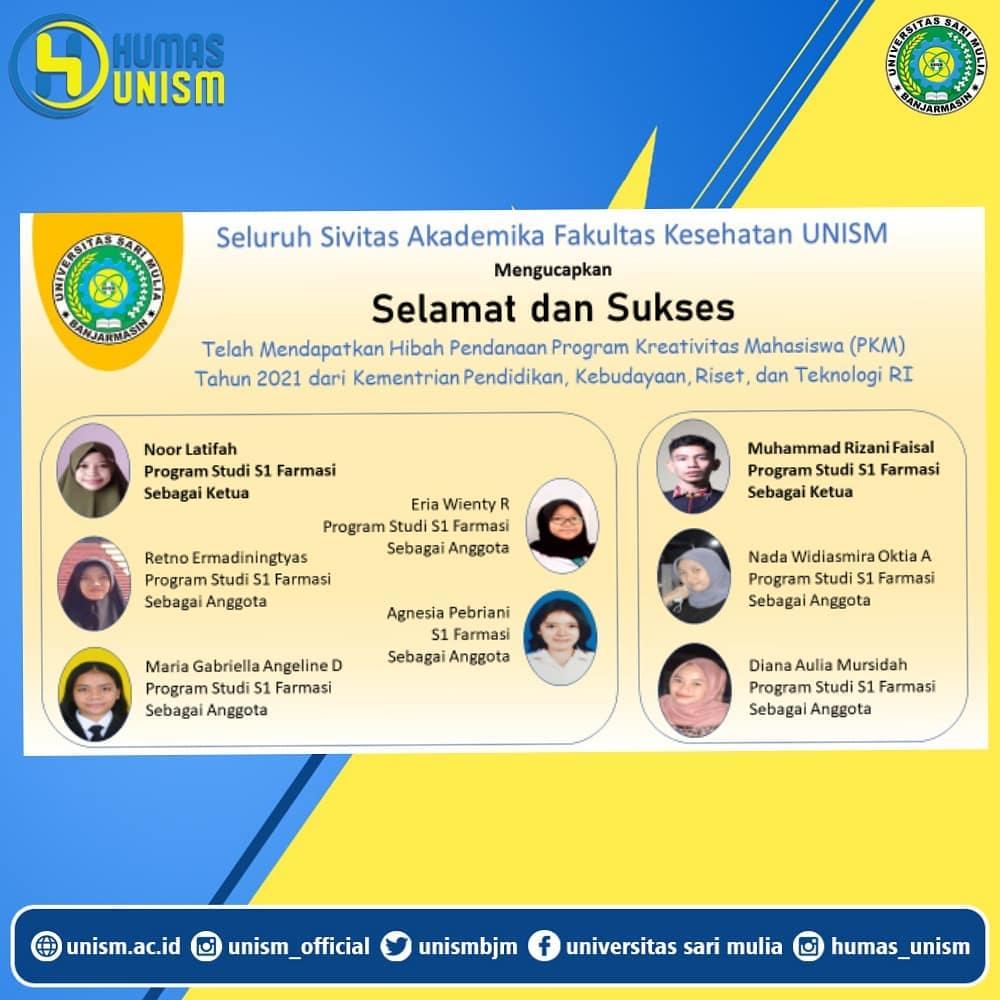 2 Tim Mahasiswa Sukses di PKM Tahun 2021