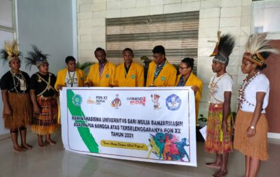Mahasiswa Unism Banjarmasin Asal Papua Dukung Suksesnya PON XX